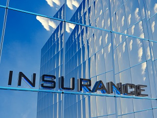 image of insurance sign on building