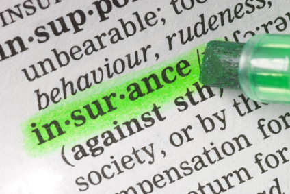 dictionary definition of insurance highlighted